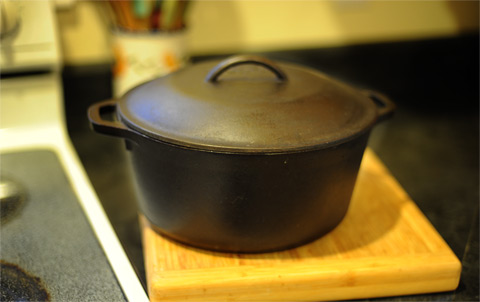 Cast iron is heavy--or easy lifting, choose a dutch oven with handles on both sides.