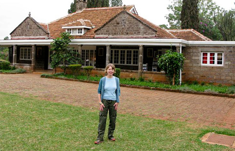 Outside Karen Blixen's house near Nairobi.