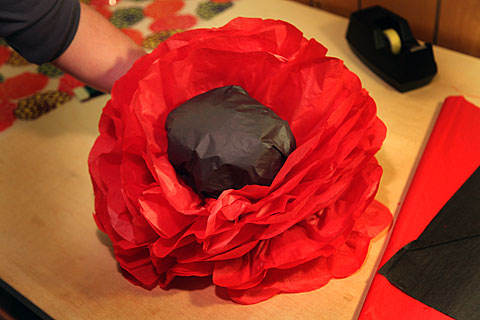 How to make a giant magical paper flower poppy garden the tangled nest mightylinksfo