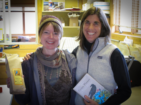 Trading books, and flour, and stories of raising daughters with the lovely owner of  Bluebird Grain Farms, Brooke Lucy.